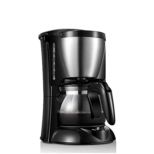 ZOUJIARUI One-Touch Simple Brew Coffee Maker,5 Cups Drip Maker,With Scale Glass Carafe