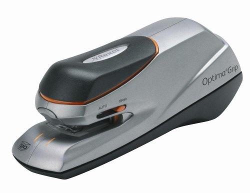 Rexel Optima Grip Elektrische nietmachine (incl. nietjes) zilver/zwart