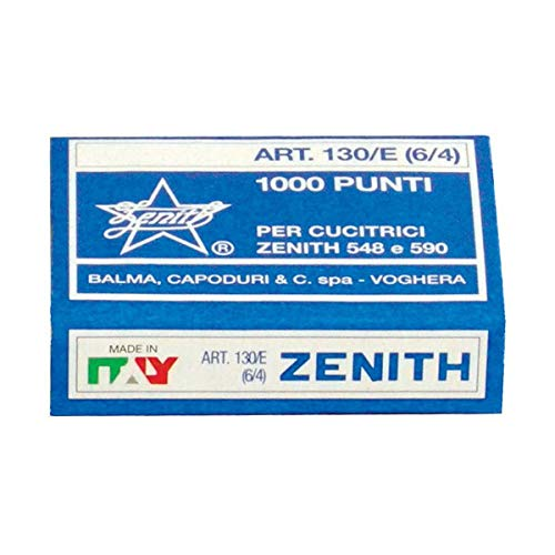 ZENITH Set 10 confezioni punti 130e1000 pezzi per cucitrice cucitrice