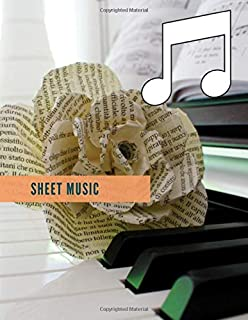 sheet music: This Book is about  note book journal for note books diarys  and diary notebook journal  or music gift books