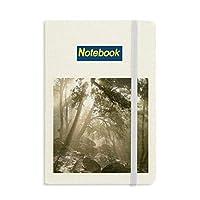 自然風景森林科学の緑の光 ノートブッククラシックジャーナル日記A 5