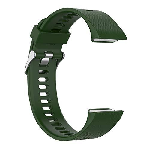 Colcolo Pulseira de substituição com braçadeira macia para Garmin Forerunner 35 30 35J ForeAthlete – Verde militar