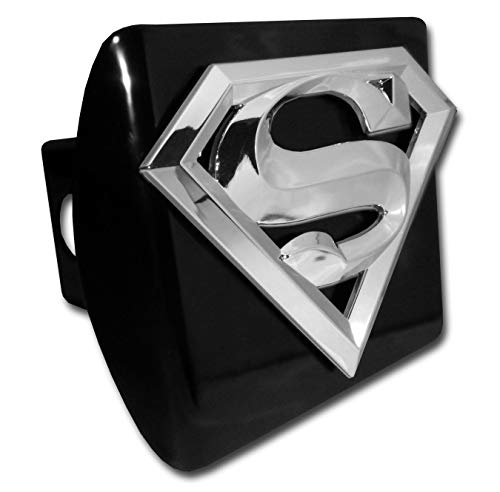 Superman Chrome and Black All Metal Hitch Cover