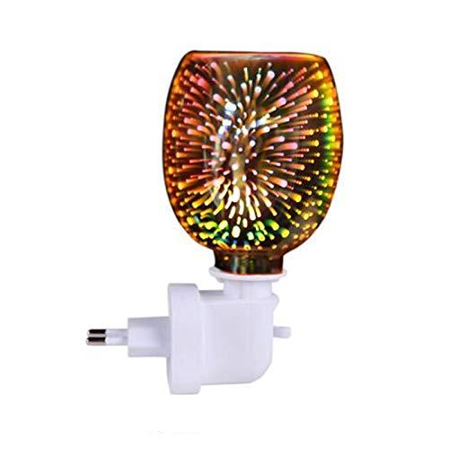Duftlampe Eklektisches Nachtlicht, Aktualisiert Elektrische Duftlampe - Duftwachs für Duftlampe, Glas Duftlampe Wachs Schmelze Wärmer Aromatherapie Diffusor Ölbrenner für Schlafzimmer