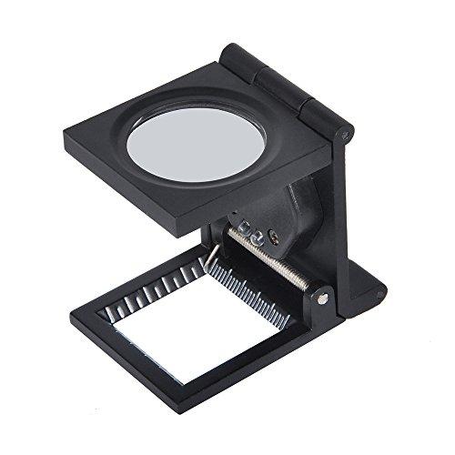 Lupa de Tela - Delaman LED 10X Lente Pliegue Soporte Tela de Tela Lupa Cuadrada Lupa de Aumento Joyero Herramienta