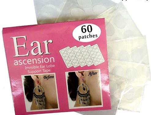 Patch protettivi e di supporto per fori alle orecchie allungati o lobi feriti, 60 pezzi