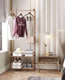 Lukzer 1PC Multipurpose Clothes Rack with 2 Bottom Shelves and Hooks/Multi Function Coat