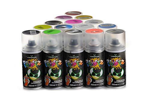 Absima 3500005 3500005-Absima Paintz Polycarbonat Spray SCHWARZ 150 ml, Mehrfarbig