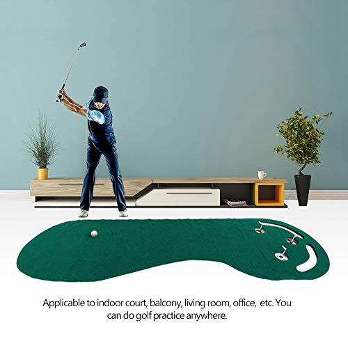 GOTOTOP Golf Putting-Matte, professionelle Outdoor Indoor Par 3 Golfbälle Loch Golfen Übungen Grün Putting Green Graswurzeln Matte für Home Office