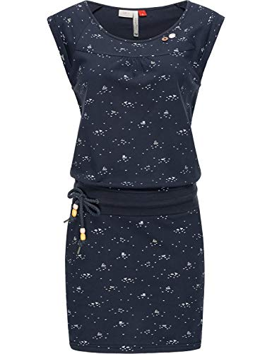 Ragwear Damen Baumwoll Jersey Kleid Sommerkleid Strandkleid Penelope Navy20 Gr. M