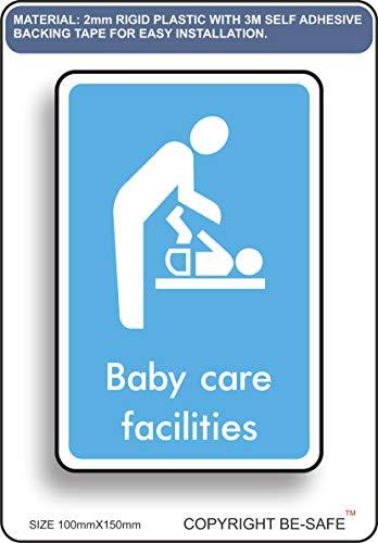 Panneau de Porte en Plastique Rigide avec Inscription en Anglais « Baby Changing »