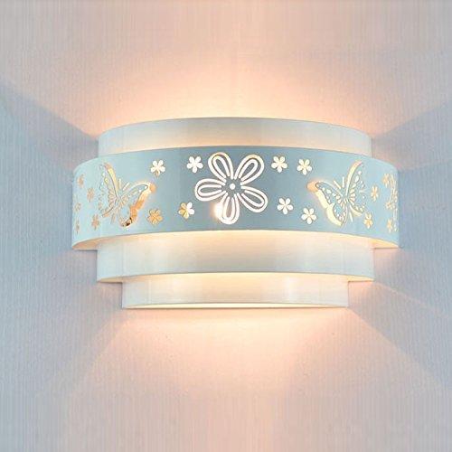 Morden Schnitzerei Wandleuchten Pendelleuchte Schmetterlings-Blumen-Muster Wandlampe Geeignet für Schlafzimmer Flur Wohnzimmer