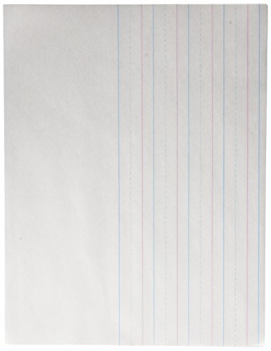 School Smart - 85320 Red & Blue Storybook Paper, 3/4 Inch Ruled Long Way, 11 x 8-1/2 Inches, 500 Sheets