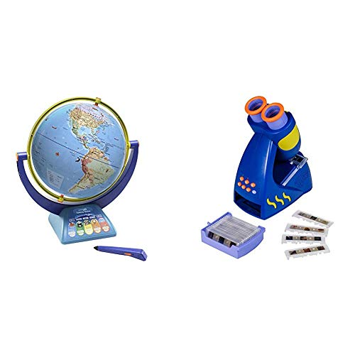 Educational Insights Geosafari Jr. Talking Globe Featuring Bindi Irwin - Globe for Kids & GeoSafari Jr. Talking Microscope, Featuring Bindi Irwin - Microscope for Kids