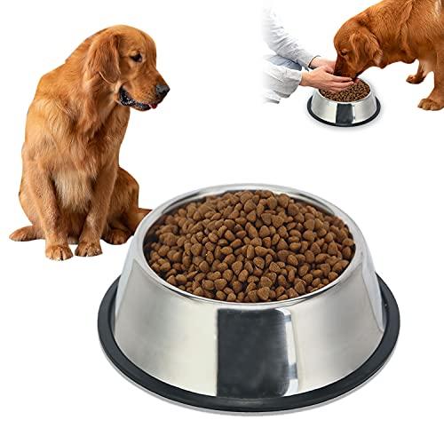 Ciotole per Cani in Acciaio Inox, Ciotola per Cani con Base Antiscivolo, Ciotola Acqua Cane, Ciotola per Gatto in Acciaio, Ciotole per Animali Domestici per Cani/ Gattini/ Piccoli Animali