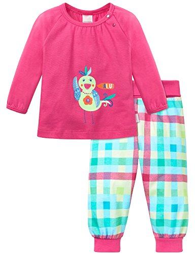 Schiesser Baby-Mädchen Anzug 2-teilig Zweiteiliger Schlafanzug, Rot (Pink 504), 62
