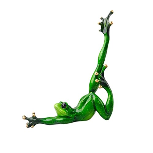 Baoblaze Sportliche Yoga Frosche Dekofigur Tierfigur Deko Tiere Figuren - D