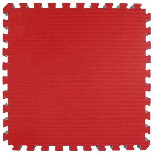 Greatmats MMA BJJ Interlocking Foam Tiles 2x2 Ft x 1.5 Inch for Home Grappling Jiu Jitsu Dojo Judo Karate Mats Floor Flooring, 10 Pack, Red/Blue