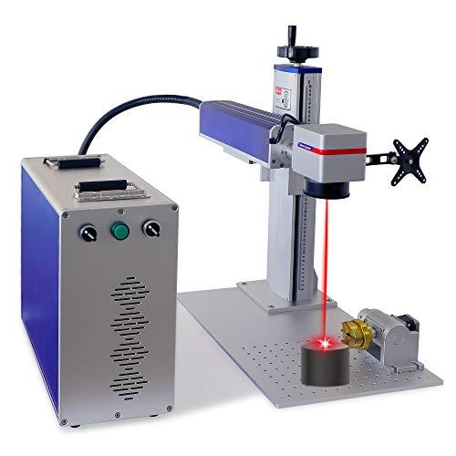 Máquina de marcado láser de fibra de 50 W para grabadora láser dividida de metal para máquina de joyería, herramienta de grabado láser (50 W, 110 x 110 mm JPT)