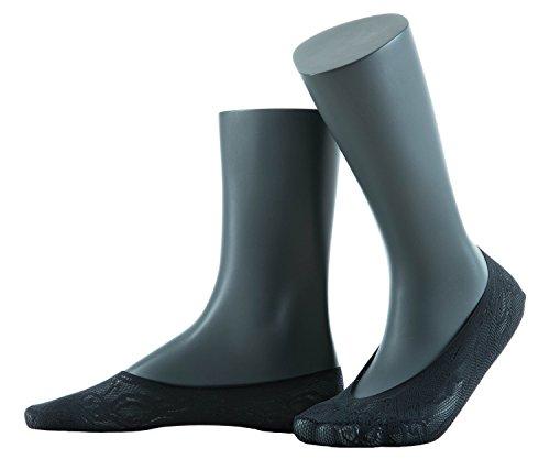 Gatta Jacquard Footer 04 - elegante Netzfüßlinge mit schönem Design - onesize - Nero