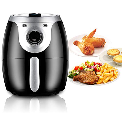 KT Mall 4.5L Air Fryer 1300W with 360°High-Speed Hot Air Circulation Electric Air Fryer with Temperature Control and Auto Shut-Off Multi-Function Cooker Oven with Non-Stick Fry Basket Low Fat Health