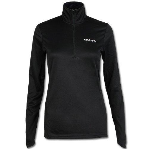 Craft lange mouwen dames skipulli second layer skipullover functioneel shirt zwart maat 44.