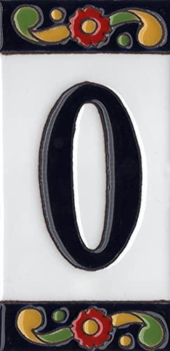 15 cm x 7,5 cm, numeri civici spagnoli, piastrelle in ceramica con numeri civici (0)