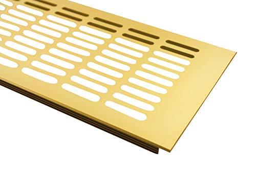 Lüftungsgitter Aluminium Stegblech Gold eloxiert - Breite 130 mm Diverse Längen (500 mm)
