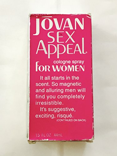 Jovan Sex Appeal Cologne Spray for Women by Coty 1.5 Fl Oz (box has imperfections)