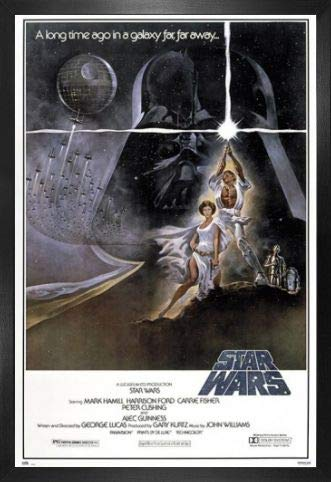 1art1 Star Wars Póster con Marco (Madera DM) - Episode IV, A New Hope (91 x 61cm)