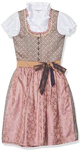 Stockerpoint Mädchen Kinderdirndl Simi Dirndl, Mehrfarbig (Taupe-Rose Taupe-Rose), 92 (Herstellergröße: 86-92)