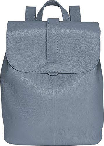 Rucksack Damen Leder BATU | Reise-Handgepäck | Laptop-Rucksack 15 Zoll | Schulrucksack Mädchen | Damen-Rucksack elegant | Tauben-Blau