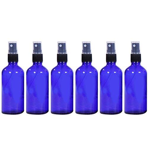 Vococal - 6 Piezas 50ml Vacía Recargable Vidrio Botella del Aerosol/Pulverizador de Perfumes/Spay de bruma para Aceites Esenciales y Otros Líquidos (Azul)