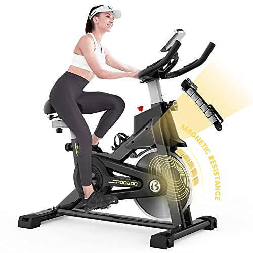 pooboo Indoor Cycling Bike with Magnetic Resistance Exercise...