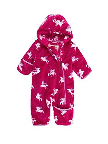 Hatley Mini Fuzzy Fleece Bundlers Combinaison de Ski, Rose (Winged Unicorns 650), 24 Mois Bébé Fille