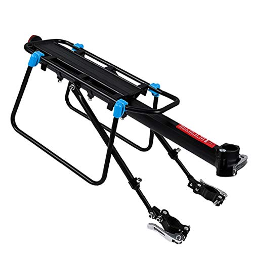 Mountain Bike Pannier Rack - Quick Release Bicycle Luggage Cargo Rack, Adjustable Cycle Rear Carrier Rack MTB Cycling Accessories with Reflector Fenders Bike