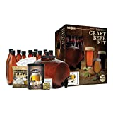 Mr. Beer Complete Beer Making Kit with Bottles Perfect for Beginners, Designed for Quick and Efficient Homebrewing, Premium Gold Edition