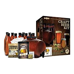 Best beer Kit for Beginners - Our beer kits are designed for the first-time brewer in mind Step-by-step instructions, simple ingredients and easy to use brewing equipment. Only Takes 30 Minutes of Your Time to Brew - Using our hopped Malt extract you...