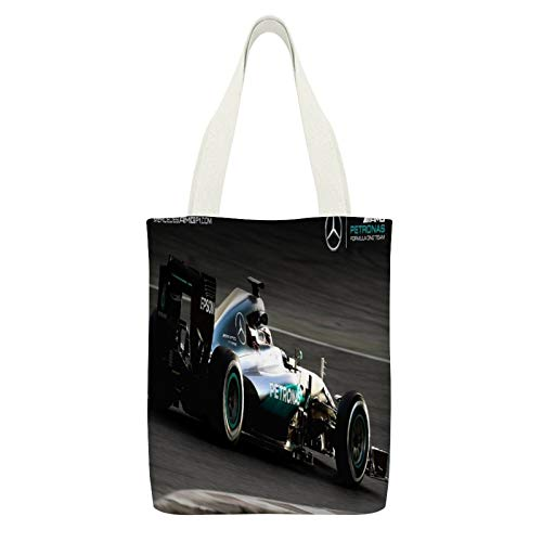 Canvas Tote Bag DoubleAutomotive Tire Automotive Design Automotive Wheel System Open-wheel Car Motorsport15*12.6in