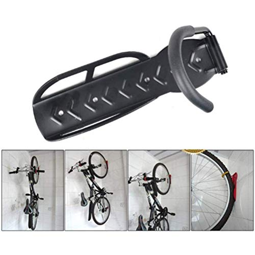 2 pcs Wall Mounted Bike Holders Heavy Duty Bicycle Wall Hook Mount Holder for Garage/Shed, Vertical Bicycle Rack Indoor Storage System with Screw