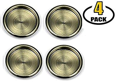 """Nuk3y Easy Snap in Closet Door Finger Pull, 2-1/8"""", 4-pack"""