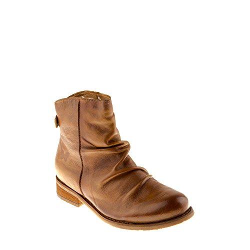 Felmini - Damen Schuhe - Verlieben Beja B137 - Reißverschluss Stiefeletten - Echtes Leder - Braun - 36 EU Size