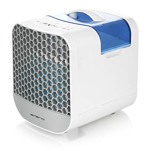 Emerio Verdunstungskühler, Luftkühler, mobiles Klimagerät für eine angenehme kühle Brise, Ventilator Funktion, 2 Geschwindigkeitseinstellungen, AC-116964