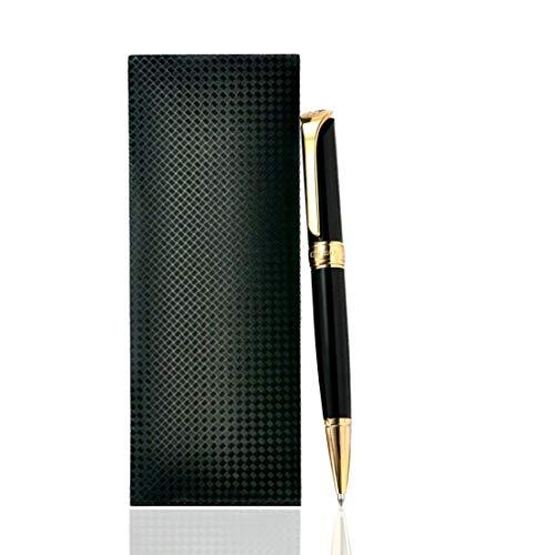 Giabo® Daichi│Premium Kugelschreiber in schwarzem Klavierlack│Kulli mit einer Mischung aus 202 Edelstahl/Kupfer│Edel vergoldete Details