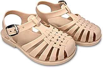 Mary Jane Shoes for Toddler Girls - Jelly Shoes and Kids Sandals in Matte Colors, Easy to Slip On (Matte Blush, Size 11)