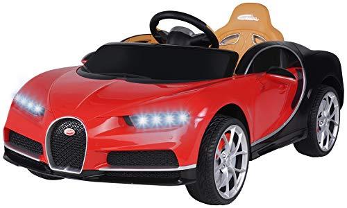 Actionbikes Motors Kinder Elektroauto Bugatti - Lizenziert - Vollgummireifen - 2,4 Ghz Fernbedienung - Elektroauto für Kinder ab 3 Jahre (Rot)