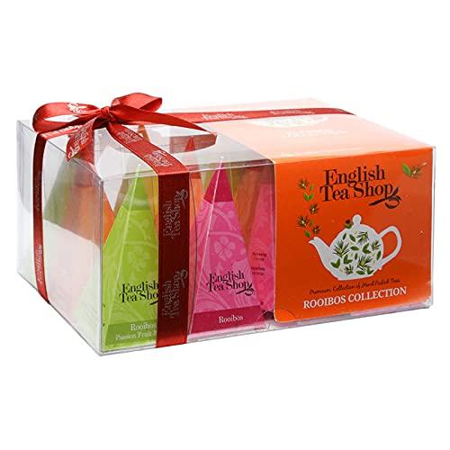 "English Tea Shop - Teegeschenk mit Schleife ""Rooibos Tee Kollektion"", BIO, 12 Pyramiden-Beutel (DE-Version)"