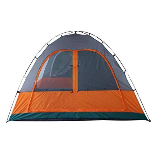 LI MING SHOP-Tents tentes extérieur Tente extérieure Tente de Camping étanche Tente de crème Solaire Orange Gris Two-Bedroom Double 4–6 Personnes en Plein air Tente de Camping + +