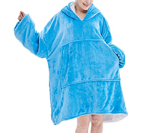 Suéter con capucha de franela flojo estupendo, camisón anti-frío al aire libre caliente doble cómodo