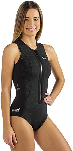 Cressi Termico Ultraspan 2mm - Damen Neopren Badeanzug, Schwarz/Logo Rosa, Gr. XL/5